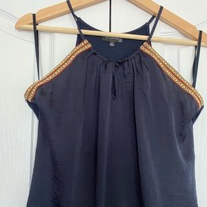 Navy blue tank top from The Limited